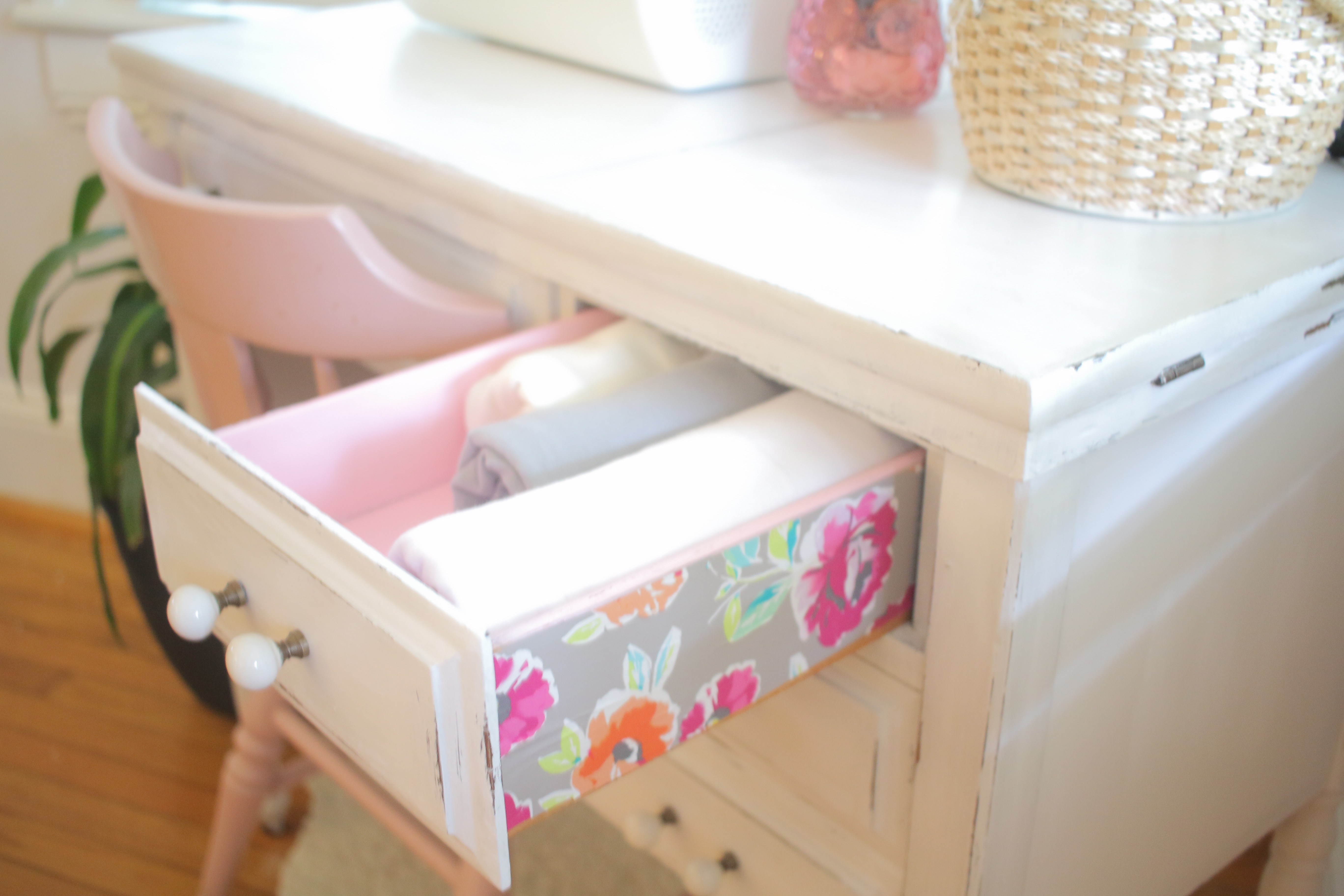 Sewing Table Drawer Details | MrsAmberApple