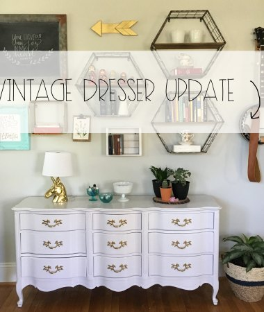 Vintage Dresser Update