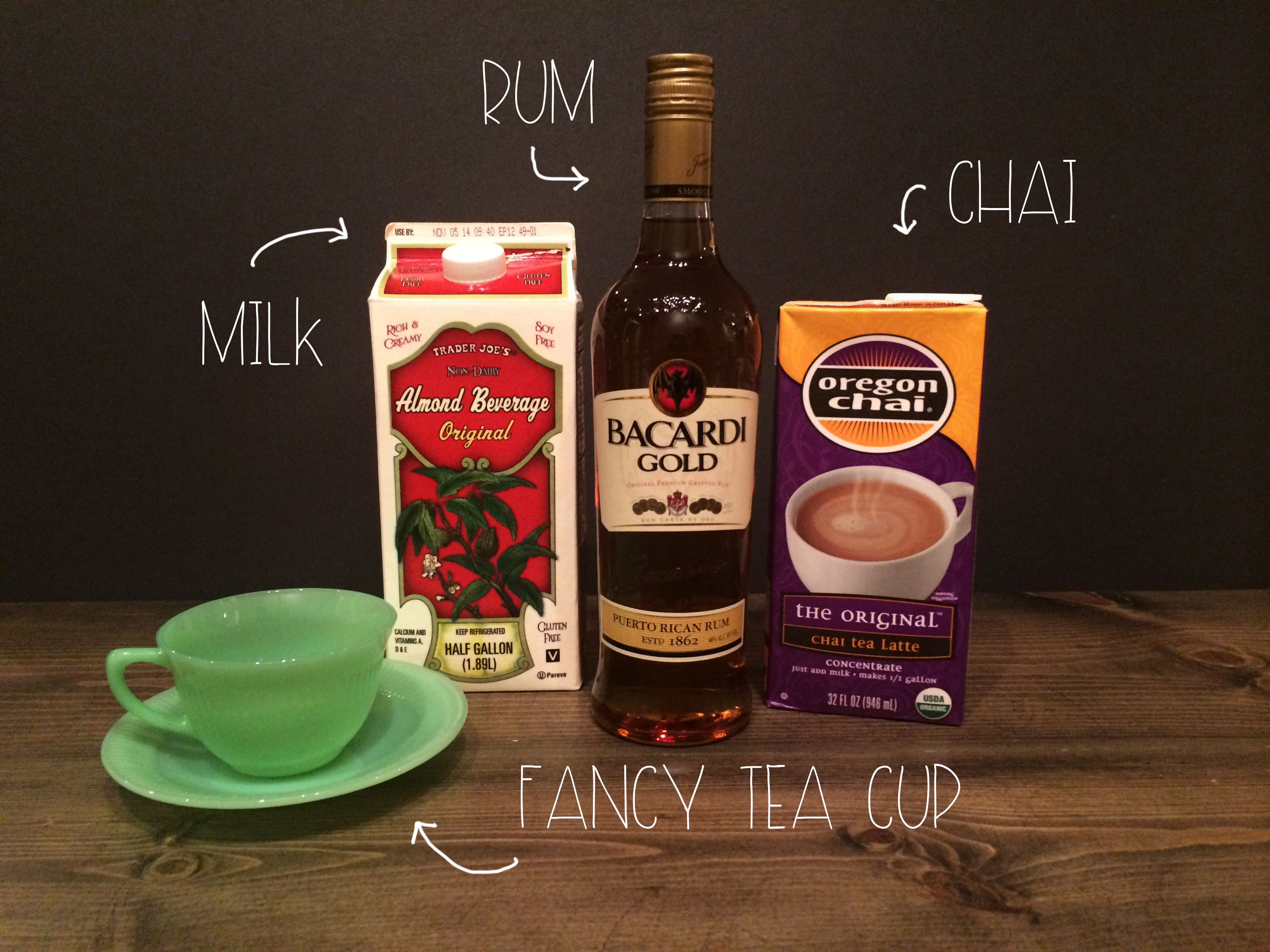 What You need for Rum and Chai Cocktail | Red Autumn Co