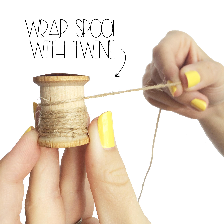 Wrap Wooden Spool   MrsAmberAppleBlog