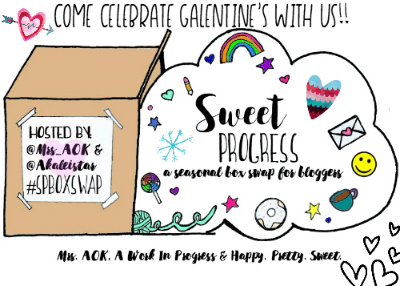 Sweet Progress Galentine's Winter Swap Box| Come celebrate Galentine's with us! A fun box swap for bloggers.