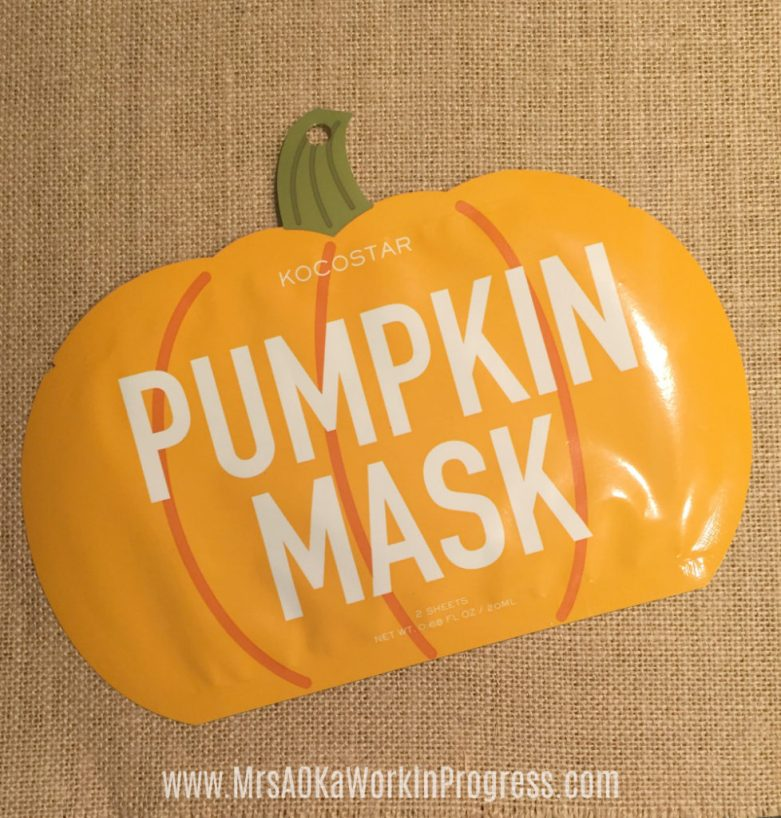Fall Box Reveal Pumpkin Mask