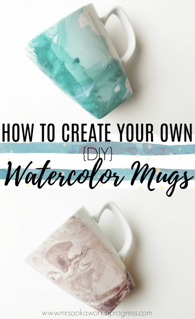 Looking for a simple and inexpensive DIY gift? OR are you looking for a way to spruce up your kitchenware? THIS IS THE DIY for you!! Learn how to create your own watercolor mugs for next to nothing :)