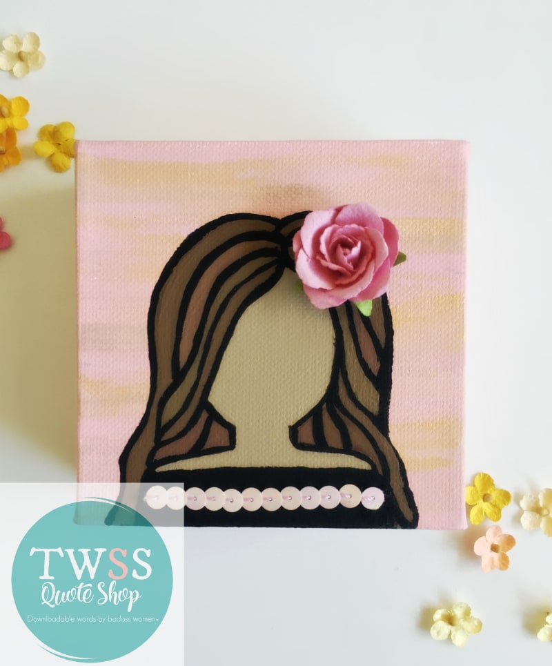 TWSS Quote Shop Flower Girl Painting