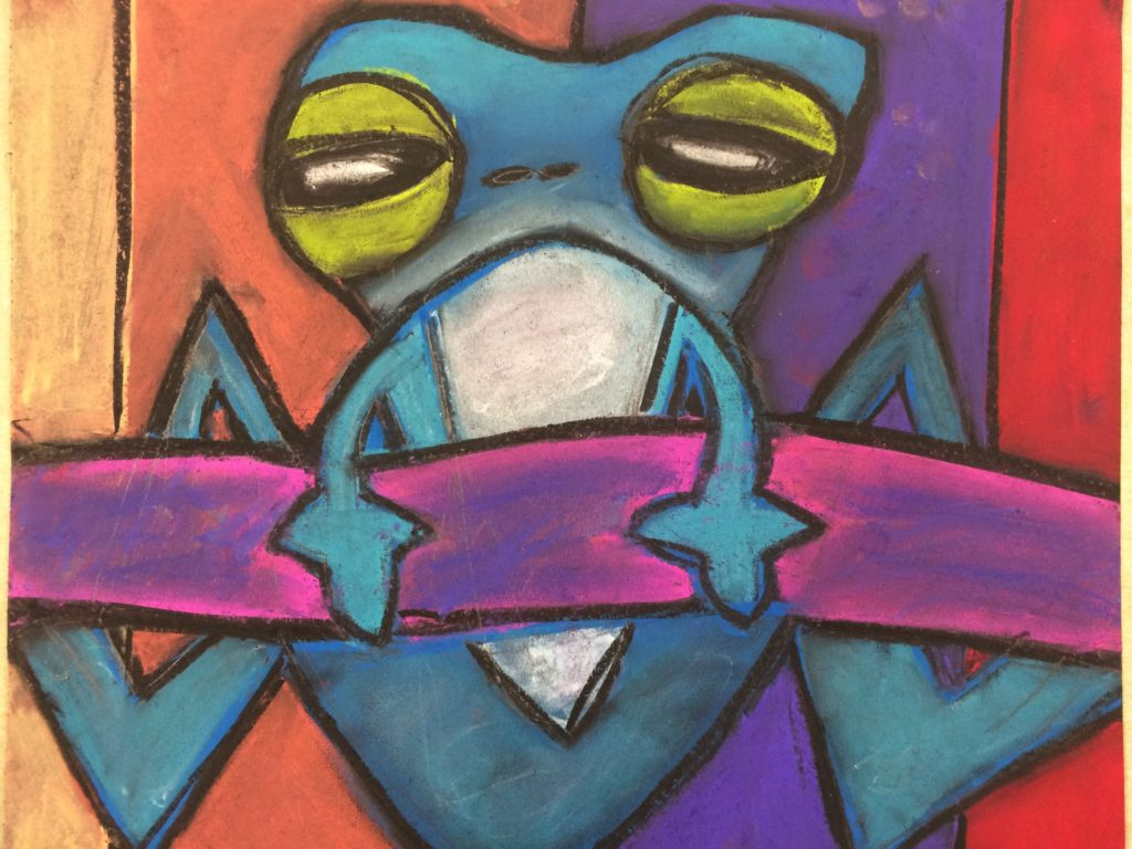 Chalk Pastel Frog