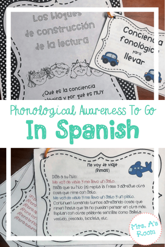 Phonological Awareness To Go In Spanish