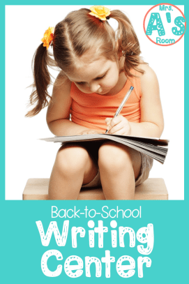 Back-to-School Writing Center for Preschool, Pre-K, and Kindergarten
