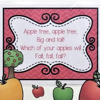 Apples Circle Time Games for Preschool and Kindergarten