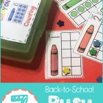 Crayon Counting Busy Box
