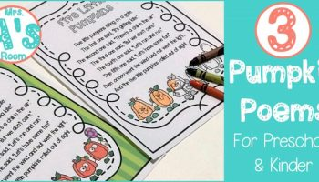 Three Pumpkin Poems for Preschool & Kindergarten