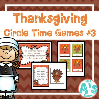 Thanksgiving Circle Time Games: Colors & Shapes