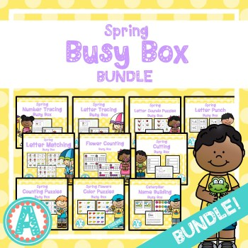 Spring Busy Boxes for Preschool and Kindergarten