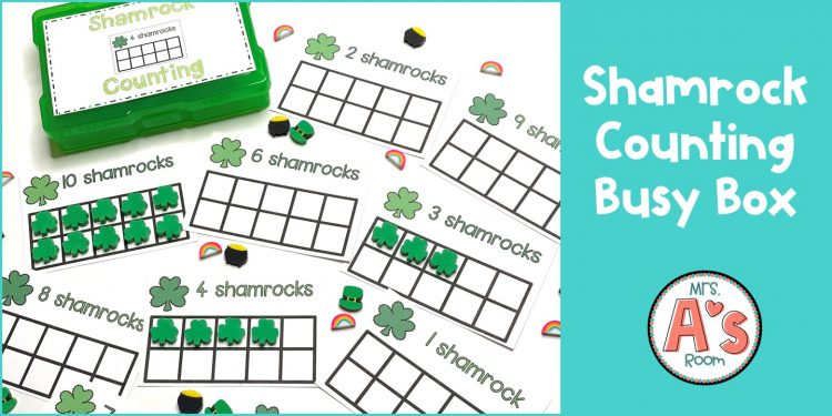 Shamrock Counting Busy Box Activity