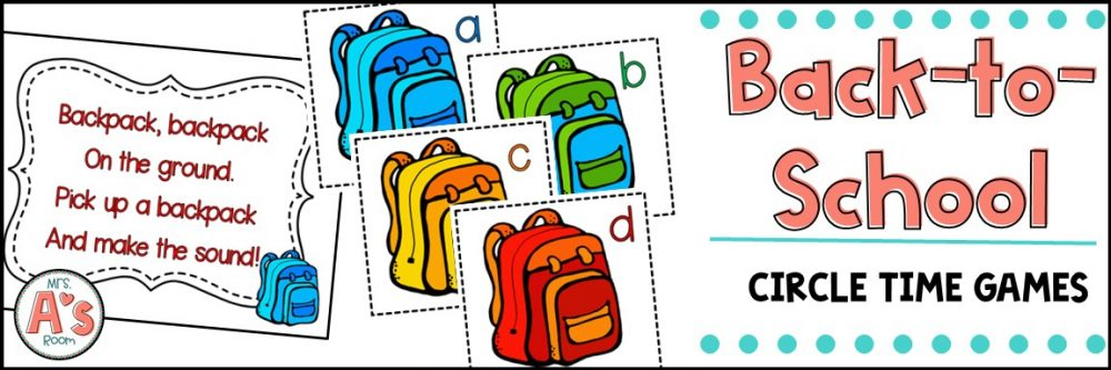 Circle Time Games for Back to School