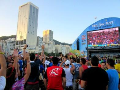 The FIFA Fan Fest on Copacabana Beach