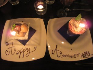 I didn't want to ruin the Happy Anniversary message but Alex scooped it up straight away!