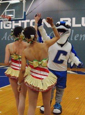 Rockettes meet Billy Bluejay 041