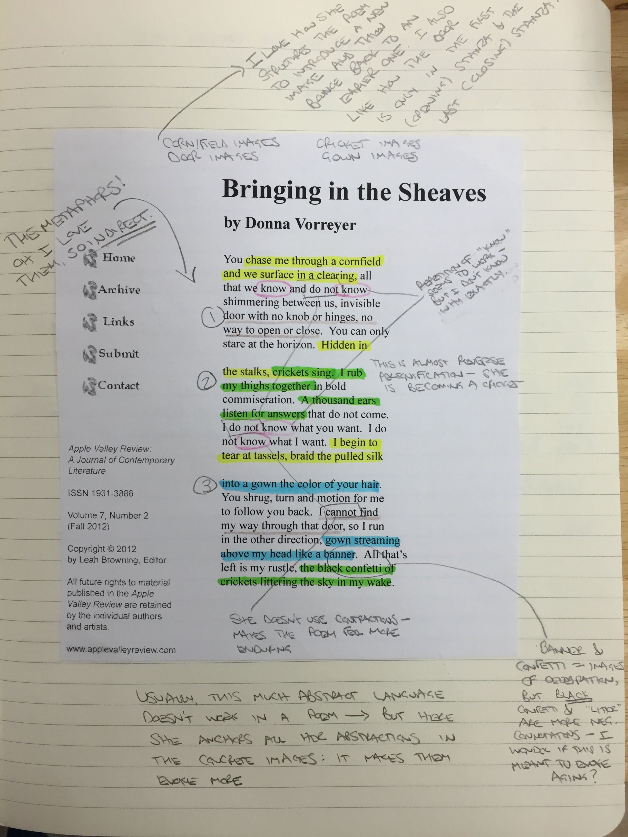 11 28 Poem Annotating Creative Writing