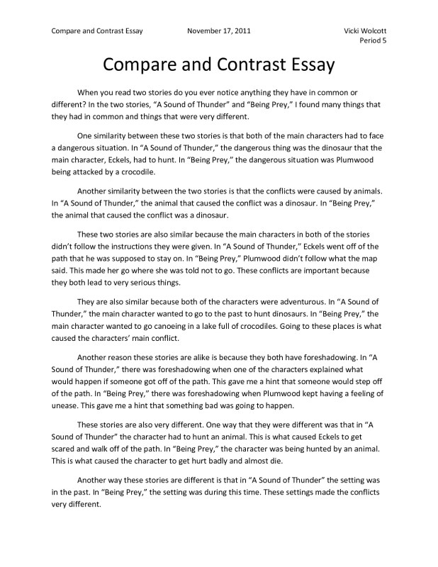 How To Write A Thesis Paragraph For An Essay Best Comparison And Contrast Essay Examples Block Method Image Essay On Terrorism In English also Simple Essays For High School Students Example Of Compare And Contrast Essay Block Method  Mistyhamel Essay Thesis Statement