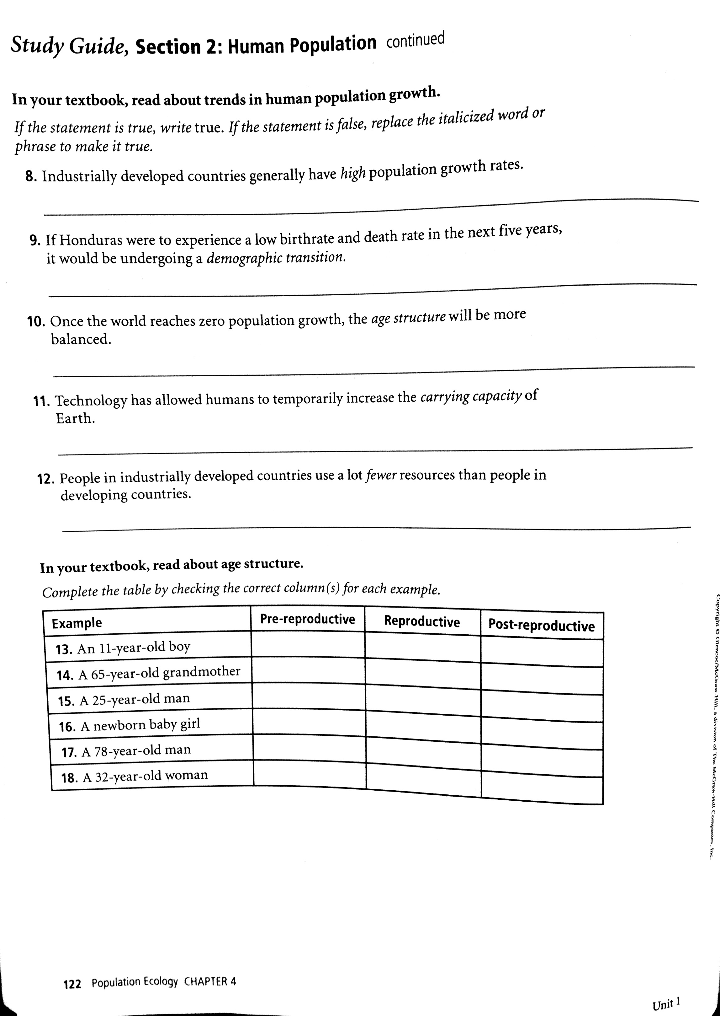 Worksheet Population Growth Worksheet Grass Fedjp