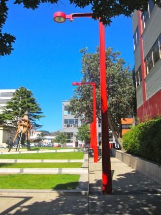 ready, steady, central city poles, Wellington (mrscarmichael)