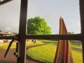 Cotswold light, through a Cotswold pub window (mrscarmichael)