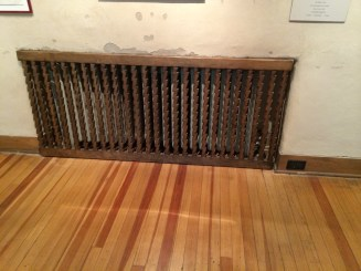 Fechin hated radiators, so he created covers for all of them.