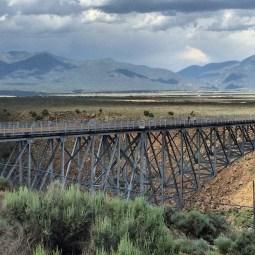 The Rio Grande Gorge Bridge.