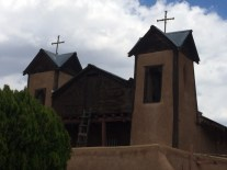 """The shrine (not parish) in Chimayo. Our docent was a """"Pilgrim in Residence"""" who had walked from St. Louis to Chimayo for one of her pilgrimages."""