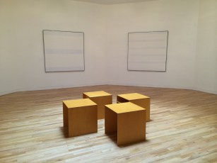 We visited the Harwood Museum and were able to sit on Donald Judd pieces while viewing Agnes Martin paintings. Pretty spectacular.