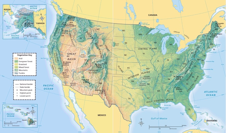 Physical  Relief  Map   Mrs  Conrad   4th Grade Minster Elementary     Picture  United States Map