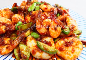 Resep Udang Balado Pete by Mrs. Culinary