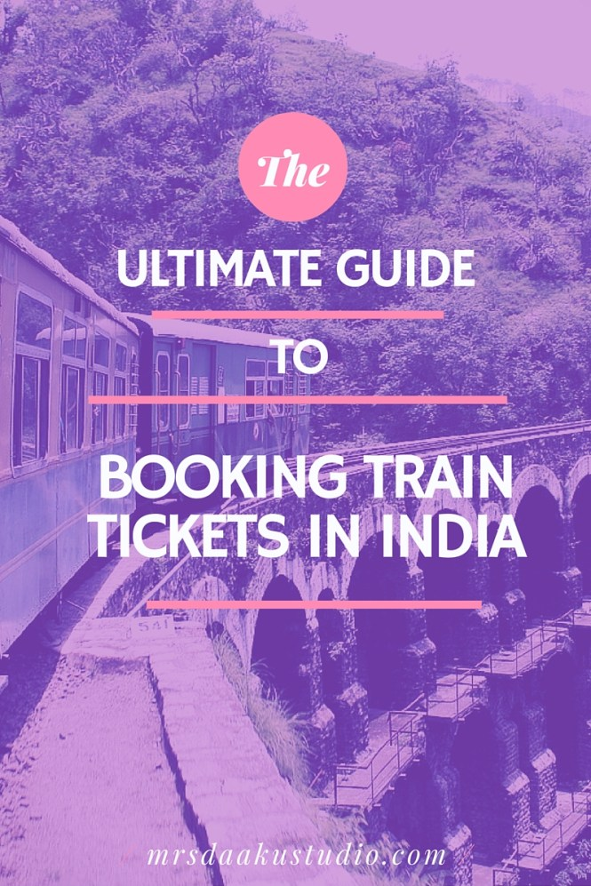 how to book train tickets in india 1