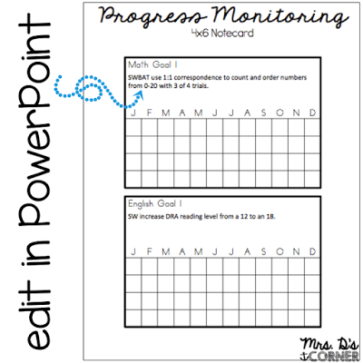 Progress monitoring is used to assess students' academic performance, and gauge the the responsiveness to what the child is learning. It doesn't have to be a tedious, difficult, or time consuming task. Sharing the simple system that has worked for me for over 4 years, and it's free. Blog post at Mrs. D's Corner.