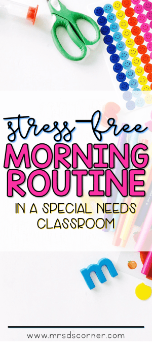 Morning meeting and morning calendar work routine in special ed in a self contained classroom. Blog post at Mrs. D's Corner