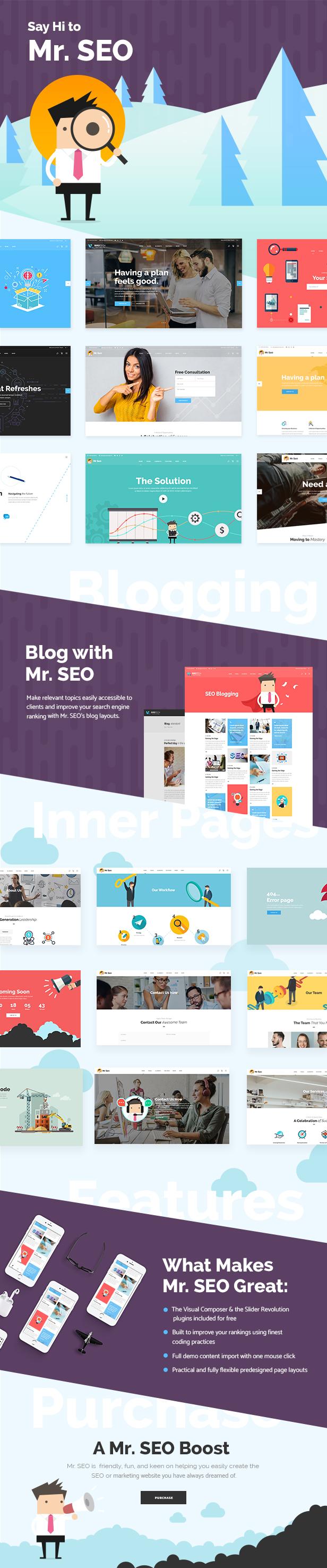Mr. SEO - A Friendly SEO, Marketing Agency, and Social Media Theme 1