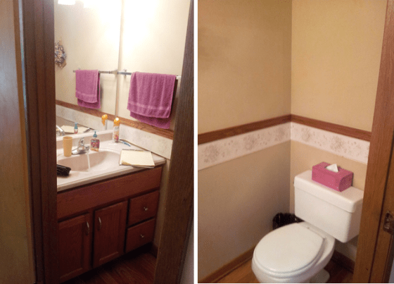 A Half Bath Renovation | The Process | Mrs. Fancee