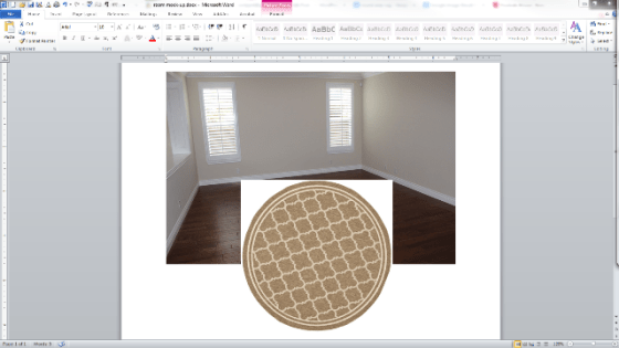 room layout in word and paint 4