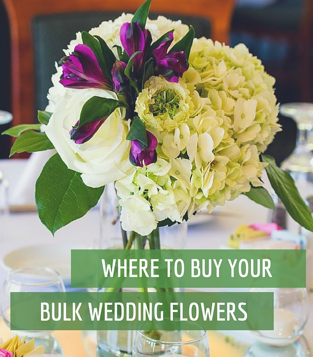 Bulk Wedding Flowers - the best 3 places to by your DIY wedding flowers from!