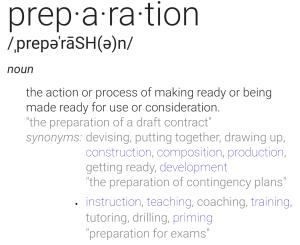 definition of 'preparation'