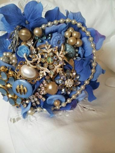 Hand made brooch bouquet