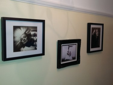 Our hallway with our wedding pictures