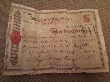 It dated from December 1918 so I like to think it was a Christmas gift.