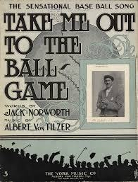 Picture of sheet music that says Take Me Out To The Ball Game