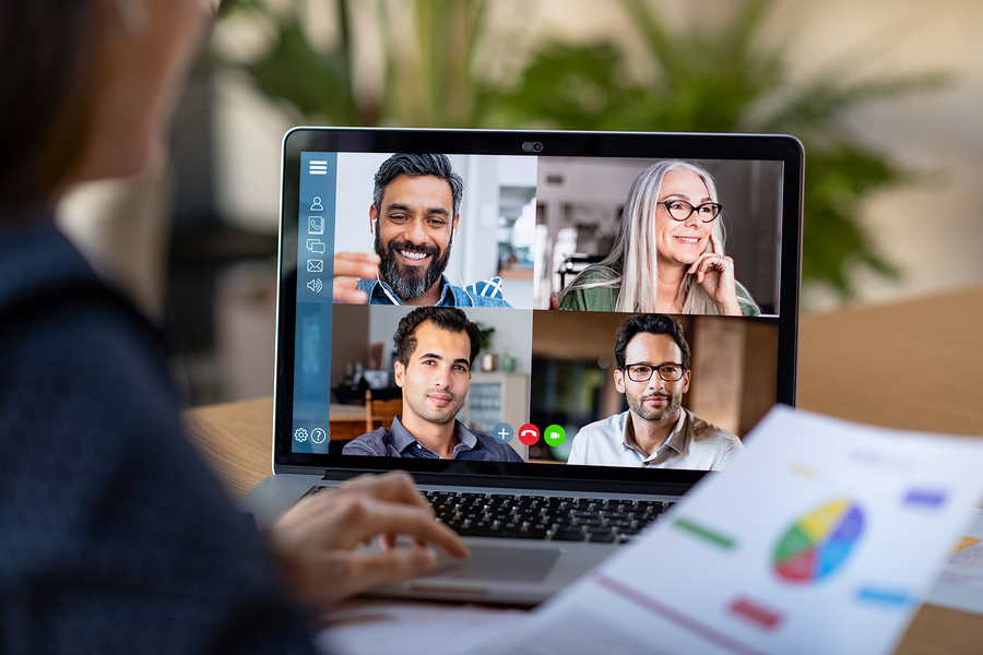 sales meeting using video conferencing