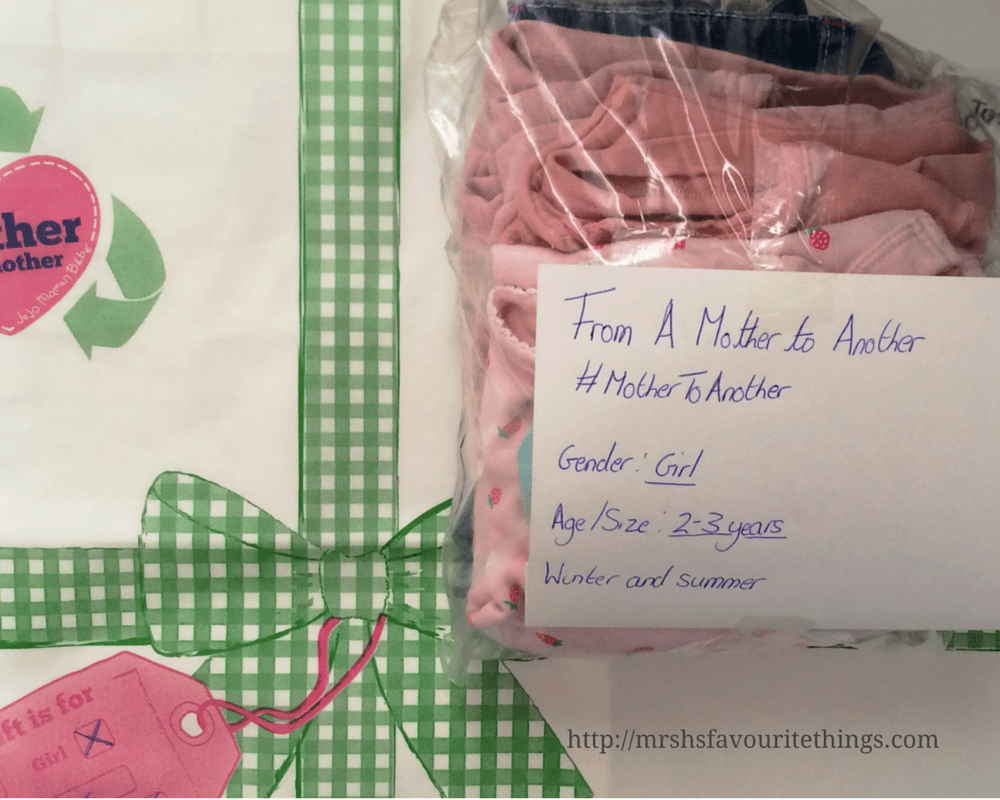 An outfit all packed up in a clear plastic bag with the size, sex and season of the outfit clearly labelled _ From a Mother to Another - a JoJo Maman Bébé Charity Campaign - Mrs H's favourite things