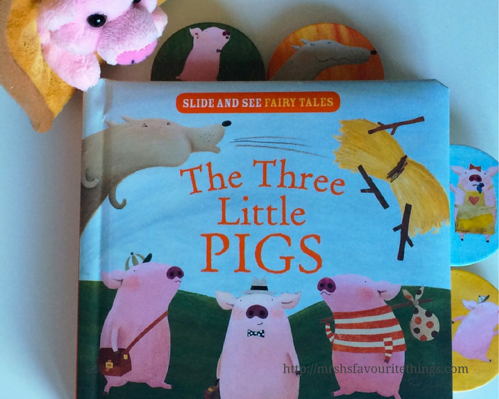 """A padded book of """"The Three Little Pigs"""" with illustrations by Mei Matsuoka_this is part of Parragon Books Slide and See Fairy Tales_ The Three Little Pigs - A Parragon Book Buddies Review_Mrs H's favourite things"""