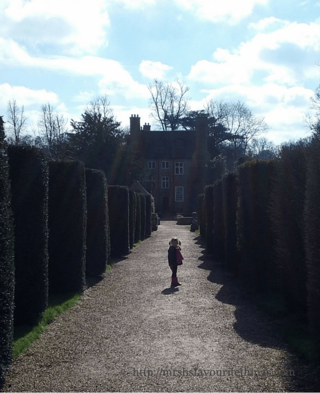 A photograph of the path up to Groombridge Place with a little girl standing in the middle of the path _ A perfect Mother's Day _ Mrs H's favourite things