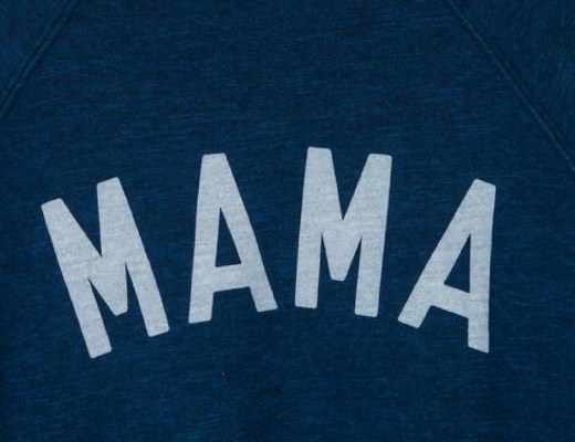 A photograph zoomed in on the MAMA logo on a Selfish Mother MAMA sweatshirt - this is the featured image - Ultimate Mother's Day Wishlist - Mrs H's favourite things