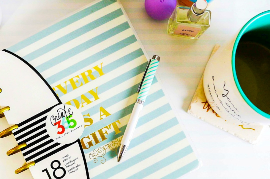 A photograph of a notebook, a pen, a full cup of tea, a perfume - the perfect photograph to represent My Favourite Blogs - a new page on my blog listing in alphabetical order all My Favourite Blogs - Mrs H's favourite things